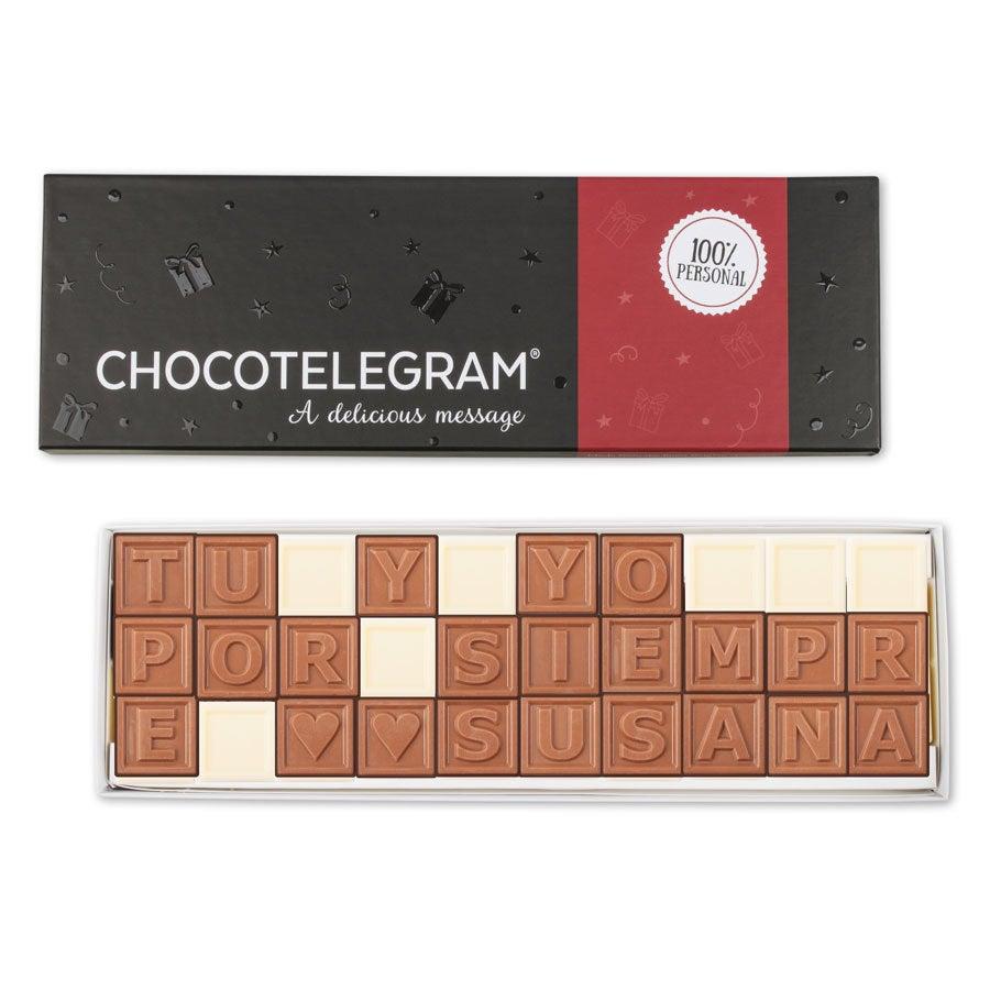 Telegrama de chocolate - 30 caracteres