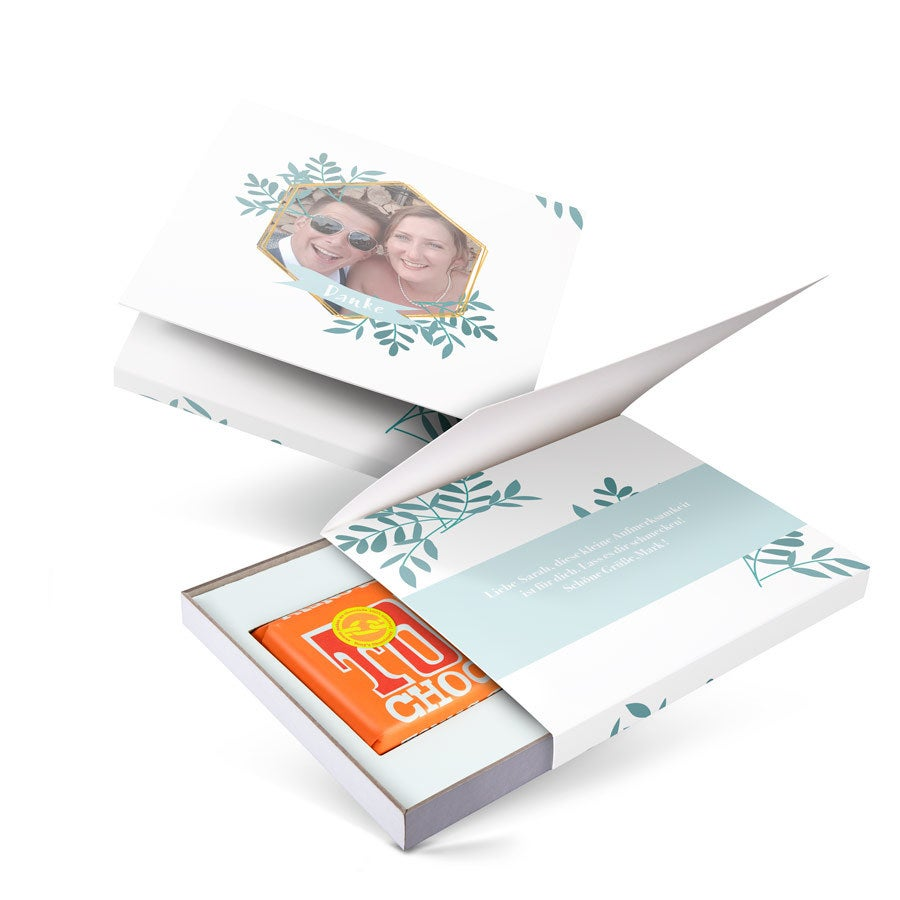 Geschenkbox mit Tony's Chocolonely - Einfach so - Karamell Meersalz
