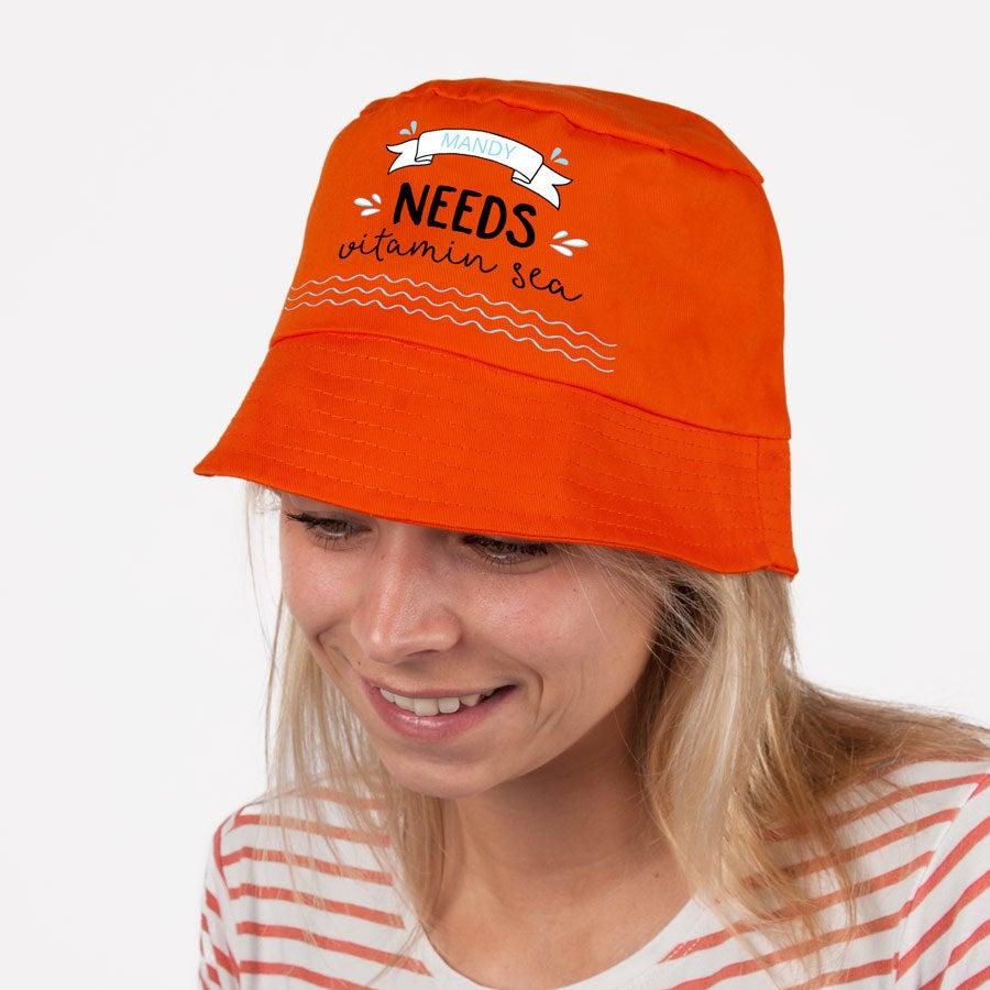 Zonnehoed bedrukken - Oranje