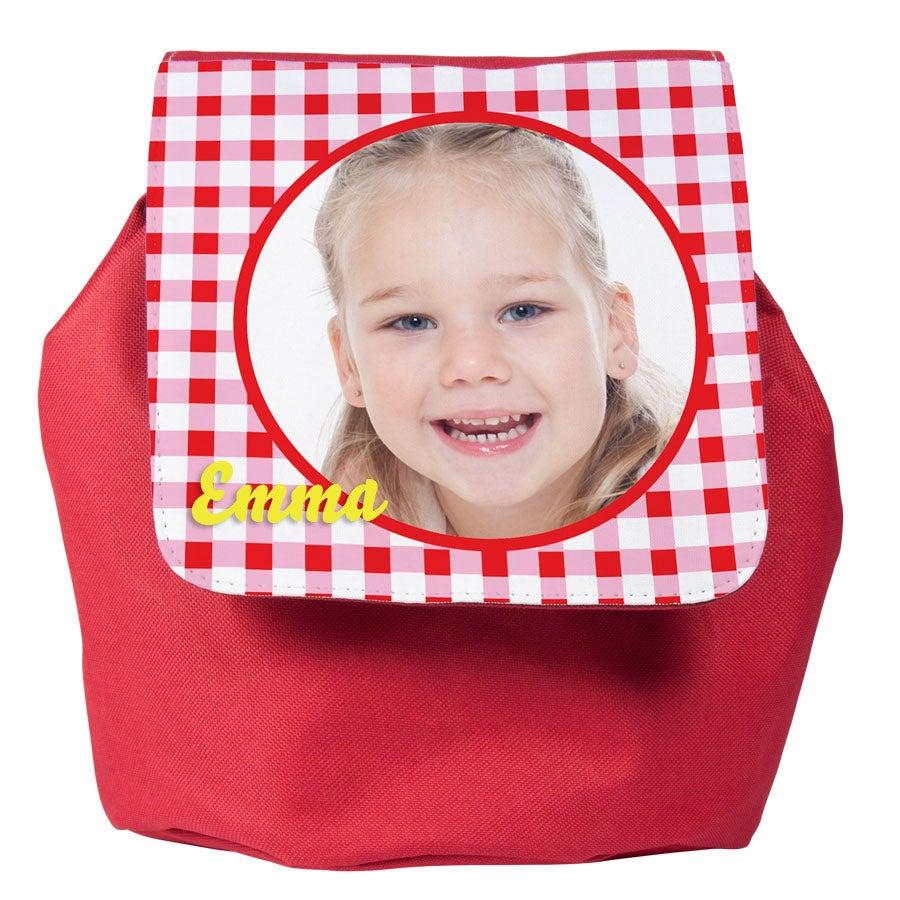 Kindertas met foto - Rood
