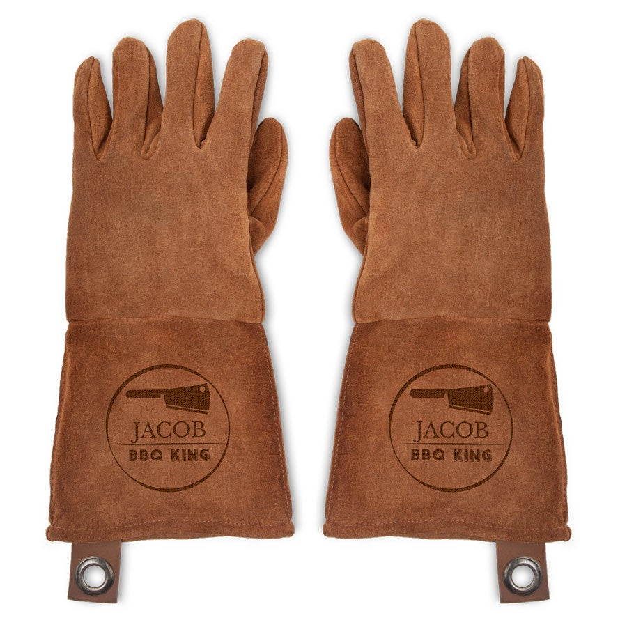 Leather oven gloves - set of 2