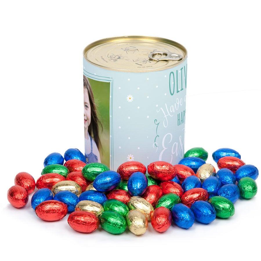 Puszka ze słodyczami - jajeczka wielkanocne