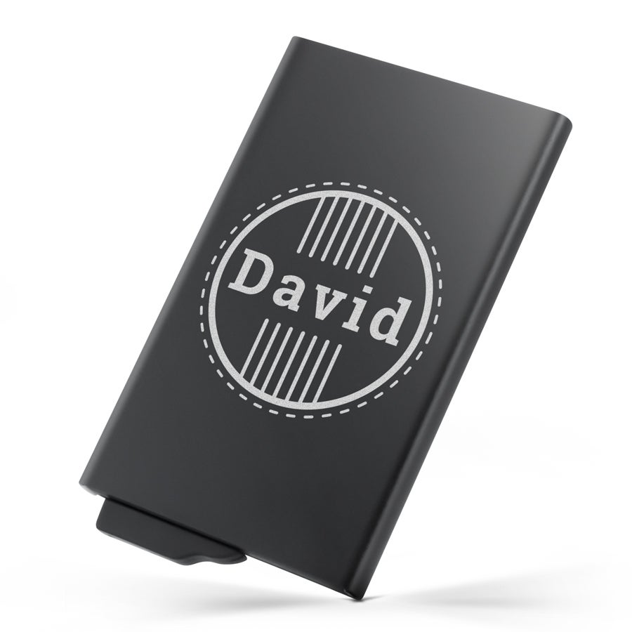 Porte carte en métal personnalisé - Noir