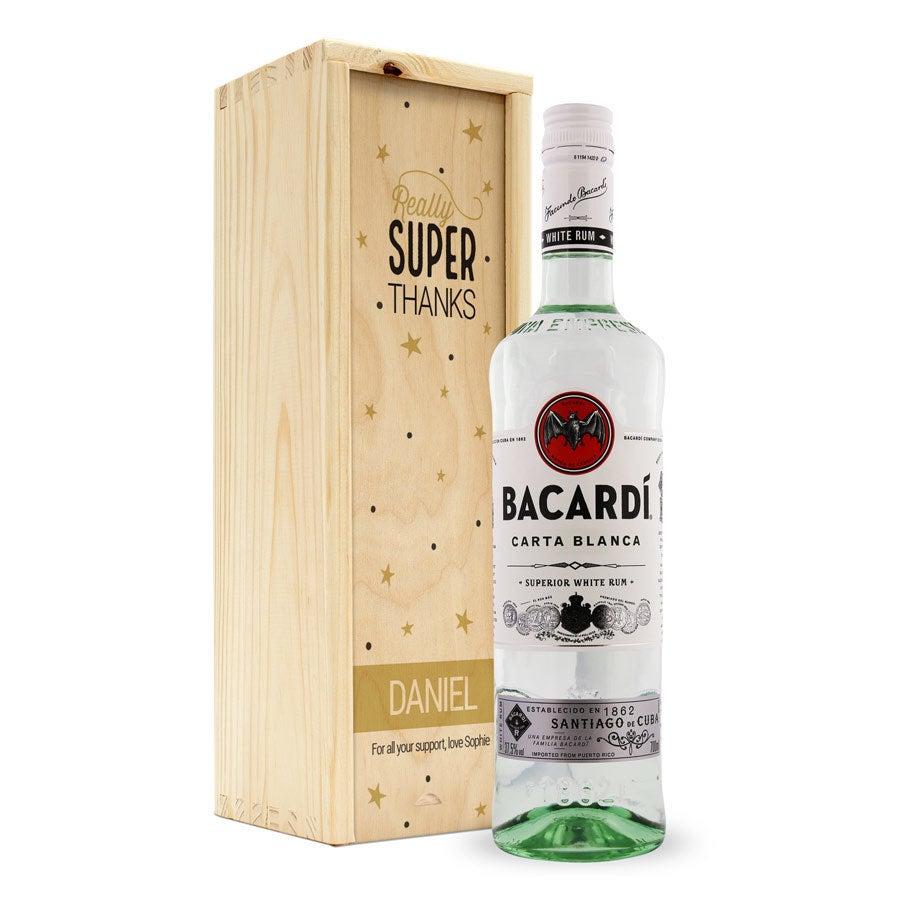 Rum em caixa com impressão- Bacardi White
