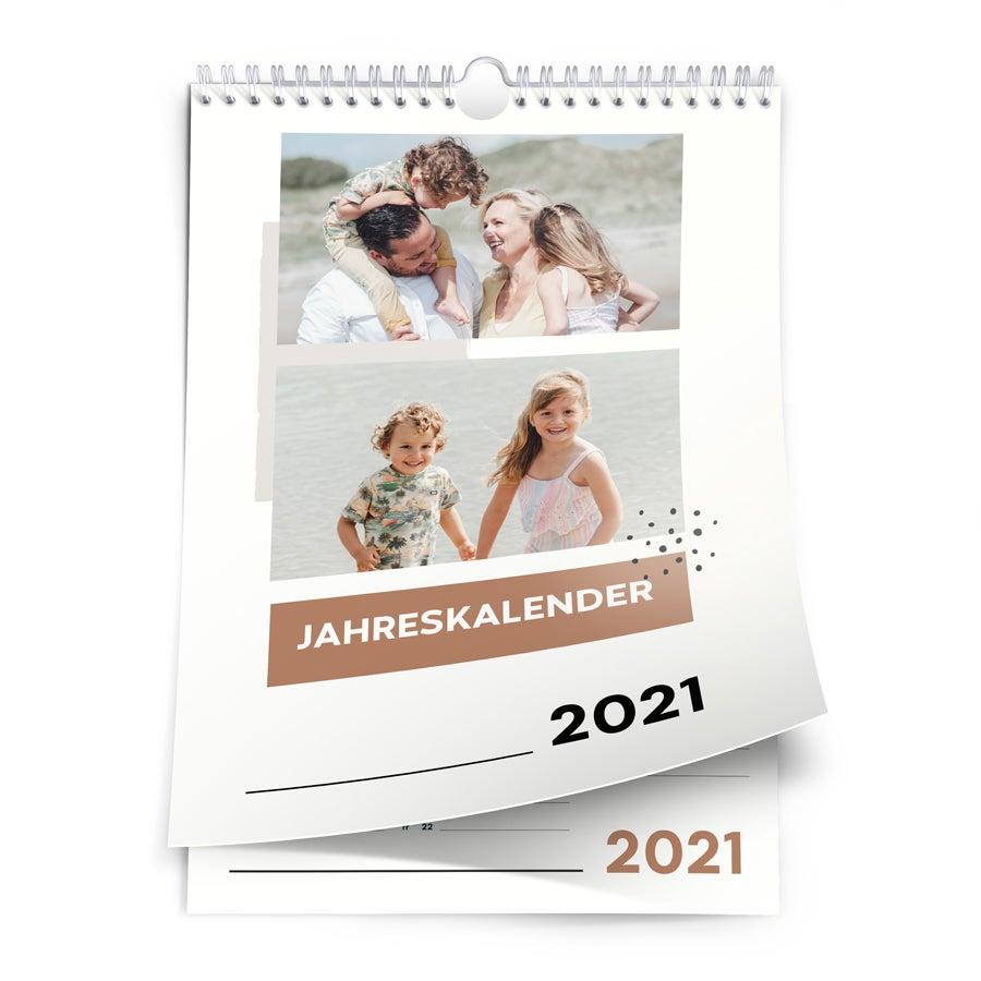 Jahreskalender 2021 - A4 - hochkant
