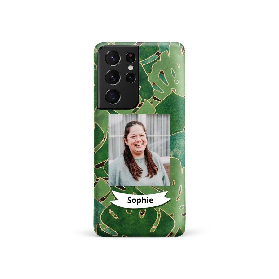 Personlig mobildeksel - Samsung Galaxy S21 Ultra - Heldekkende trykk