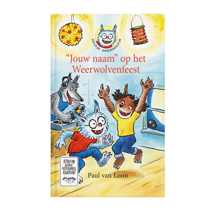 Boek met naam - Dolfje Weerwolfje Weerwolvenfeest - Hardcover