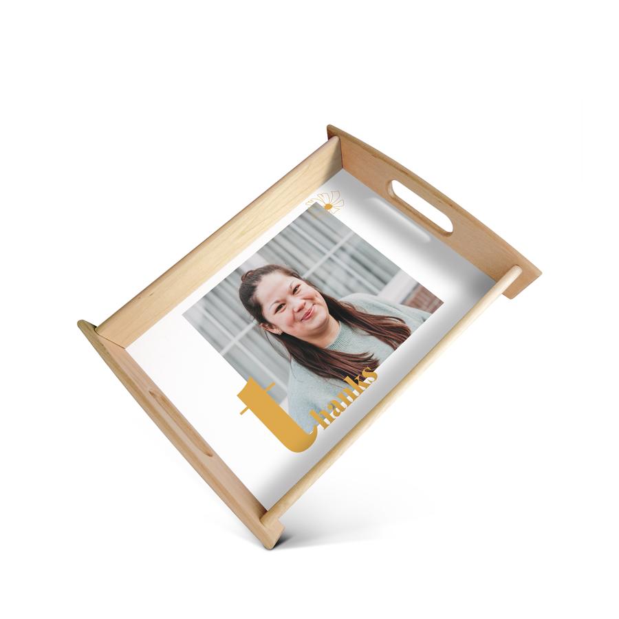 Individuellküchenzubehör - Fototablett Lehrer Medium Beige - Onlineshop YourSurprise