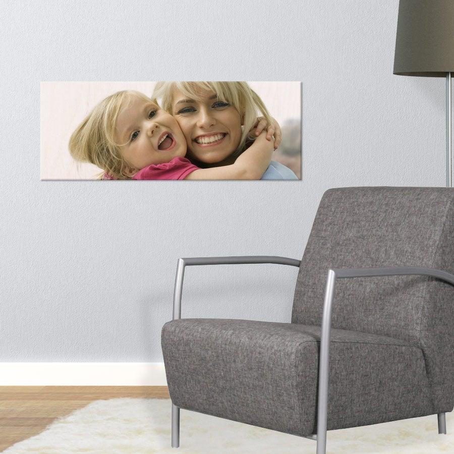 Puinen valokuvataulu (80x30cm)