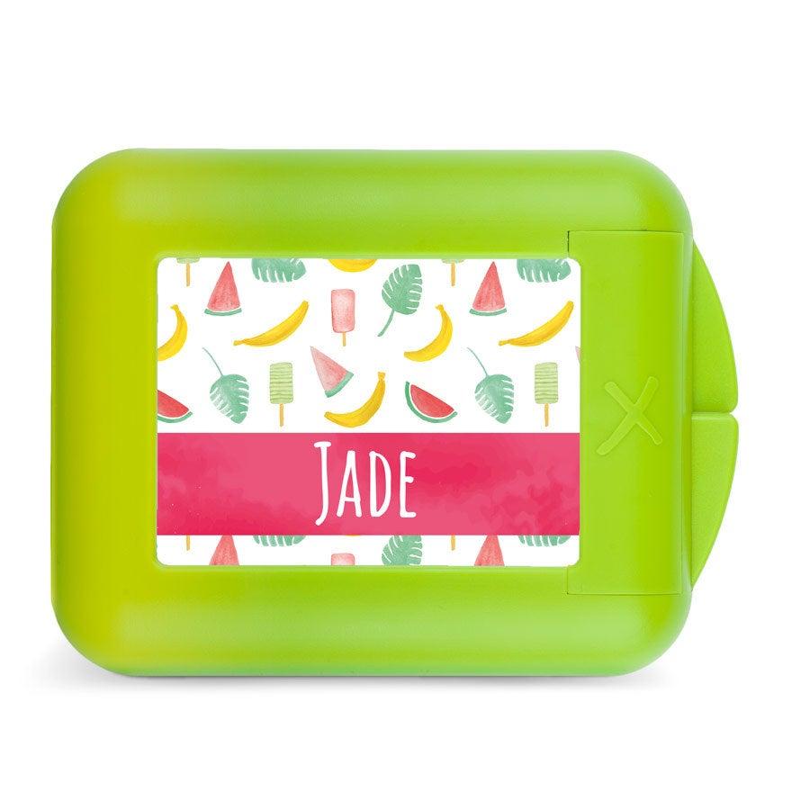 Boîte à goûter enfant - Fruits à croquer - Vert citron