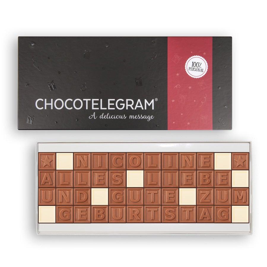Chocotelegram Präsentkarton 4x12