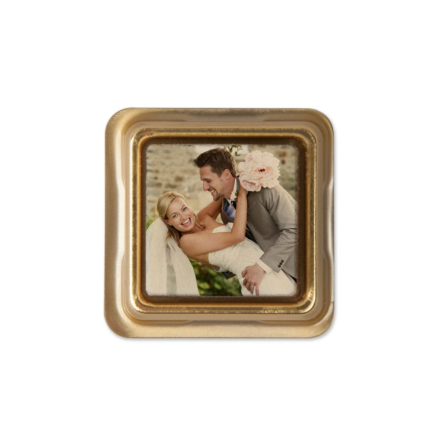 Individually wrapped photo chocolates - set of 50
