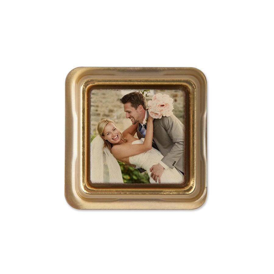 Individually wrapped photo chocolates - set of 50