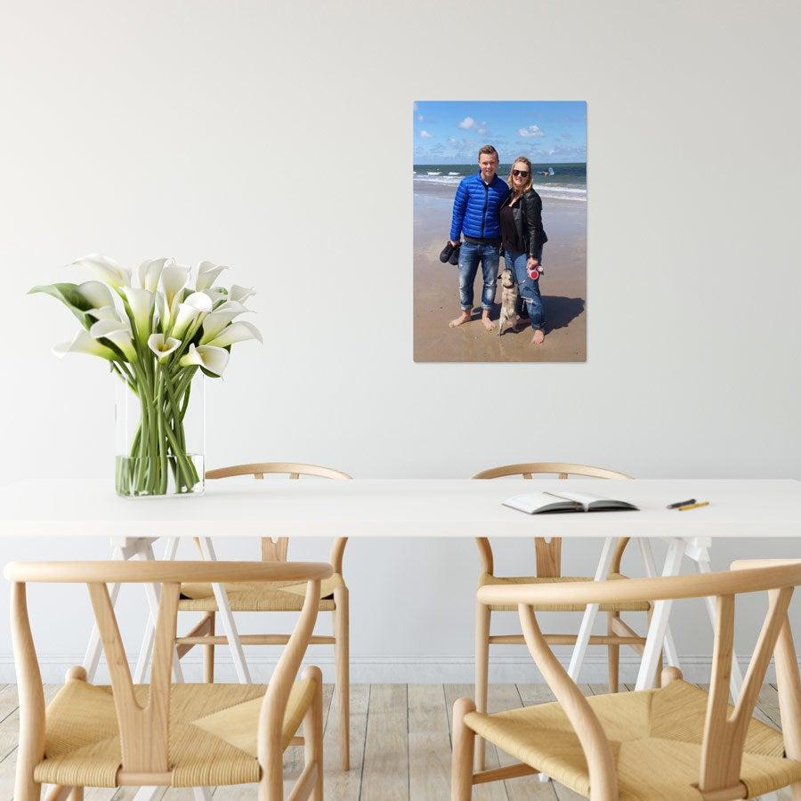 Foto op aluminium afdrukken - Wit (ChromaLuxe) - 40 x 60 cm