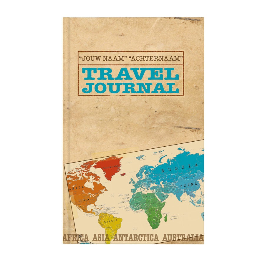 Boek met naam - Travel journal - Hardcover