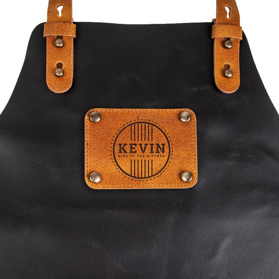 Leather apron - Black