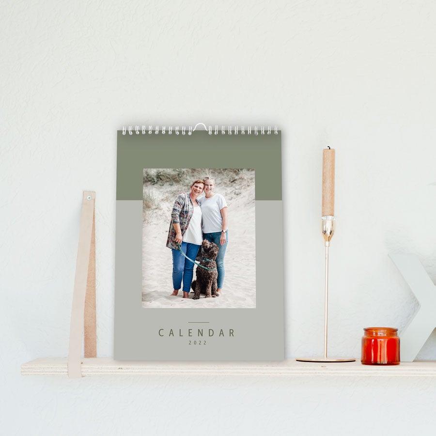 Kalender 2022 - A4 - Ensidet - lodret