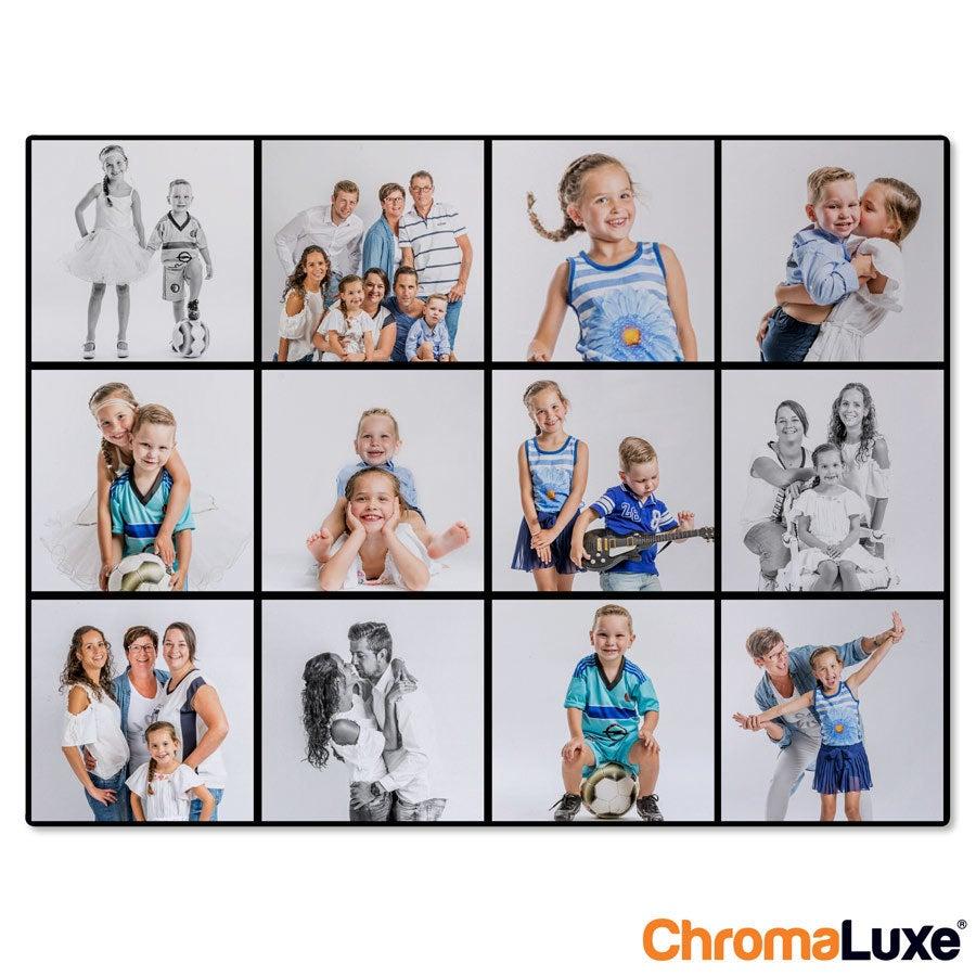 Instagram Collage auf Aluminium - Chromaluxe - Weiß (40x30)