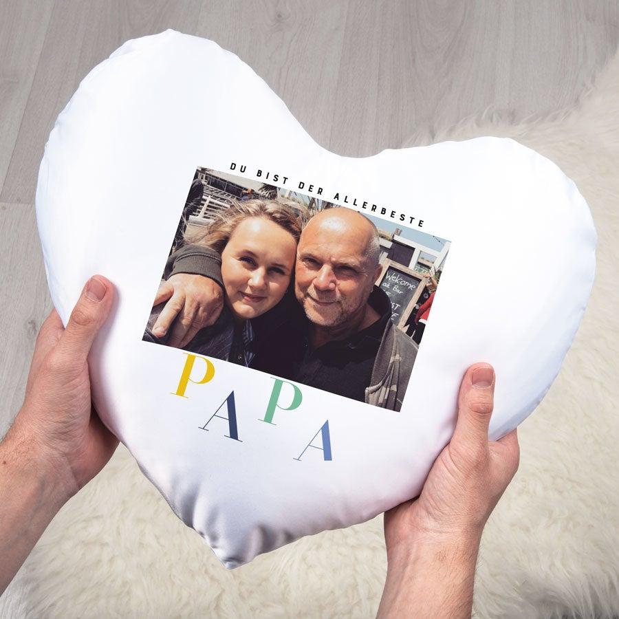Individuellwohnzubehör - Vatertag Kissen Herz - Onlineshop YourSurprise