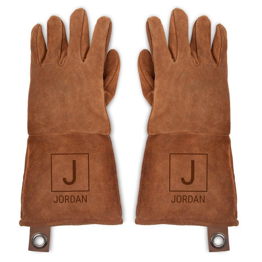 Skórzane rękawice grillowe