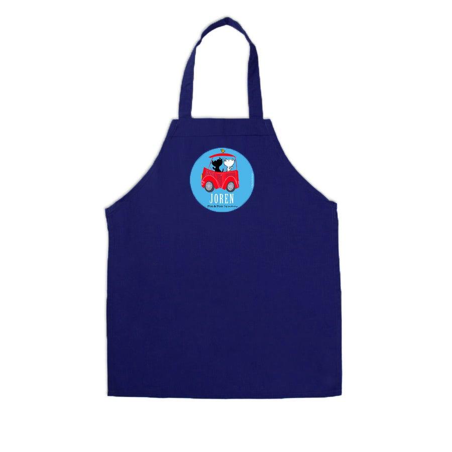 Tablier enfant bleu - Pim & Pom