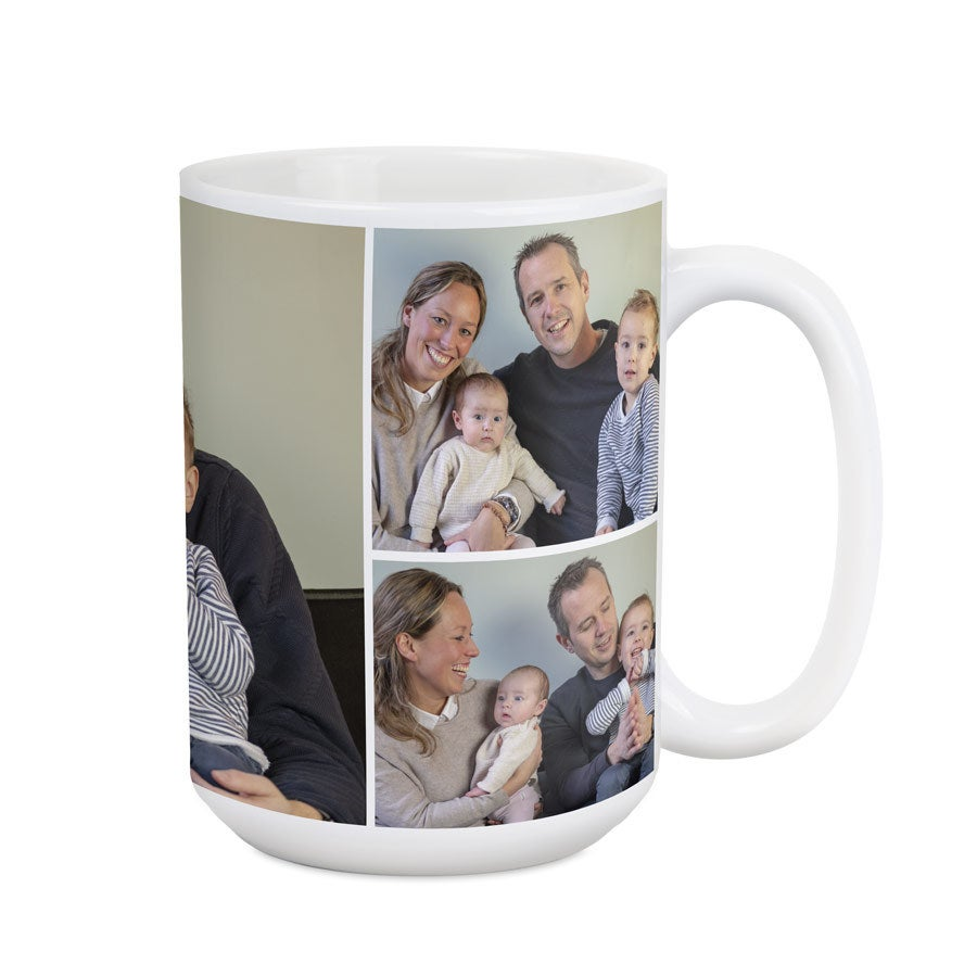 Große Tasse mit Foto und Namen