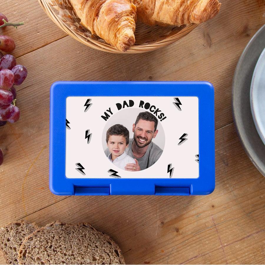 Vaderdag broodtrommel - Blauw