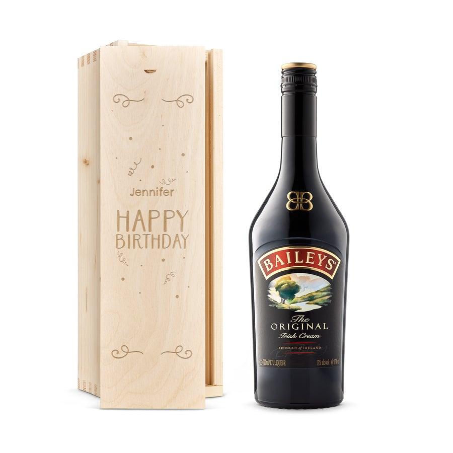 Liqueur in engraved case - Baileys Original