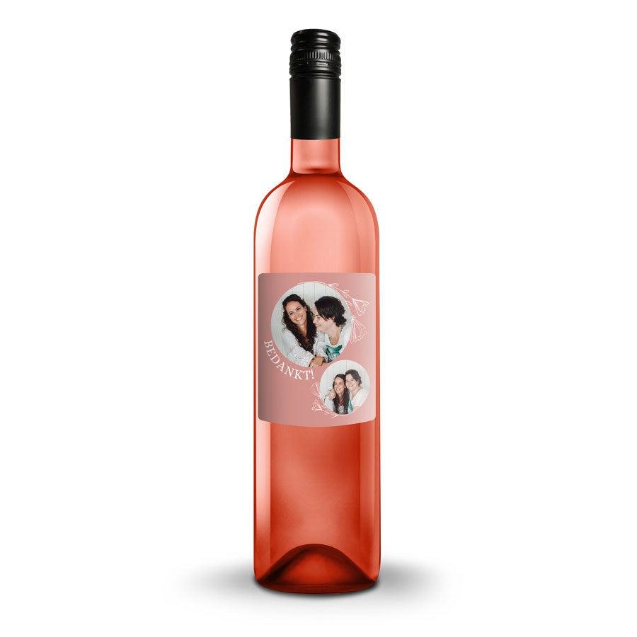 Wijn met bedrukt etiket - Luc Pirlet - Syrah