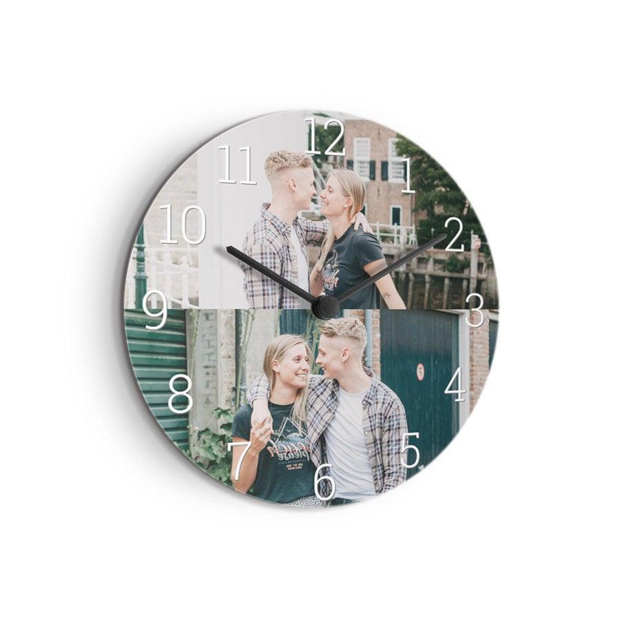 Horloge personnalisée - Ronde taille moyenne (isorel)