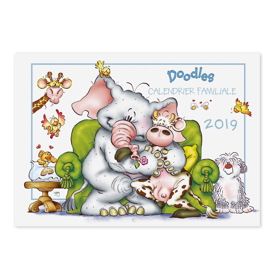 Calendrier familial Doodles avec photo 2019