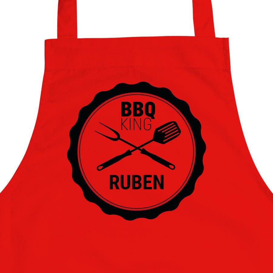 BBQ schort bedrukken - Rood