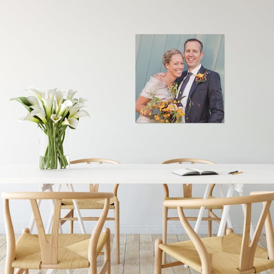 Foto op aluminium afdrukken - Wit (ChromaLuxe) - 60 x 60 cm