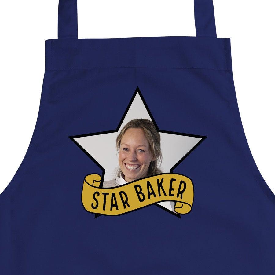 Køkkenforklæde - Blå