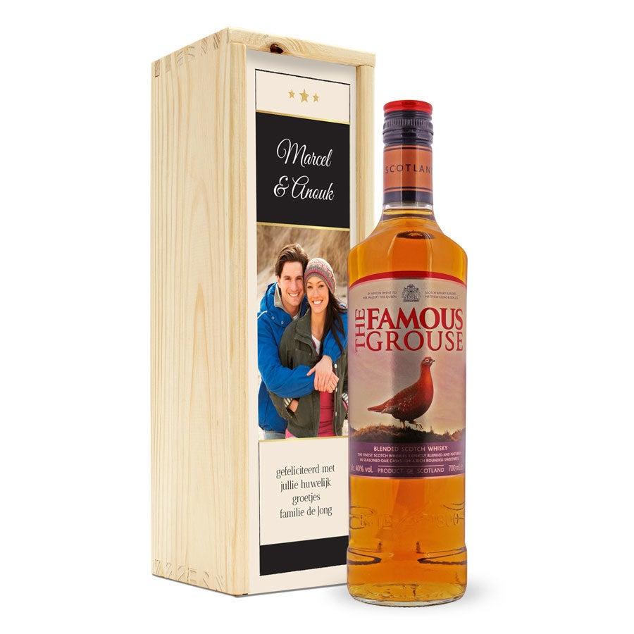 Whisky in bedrukte kist - The Famous Grouse