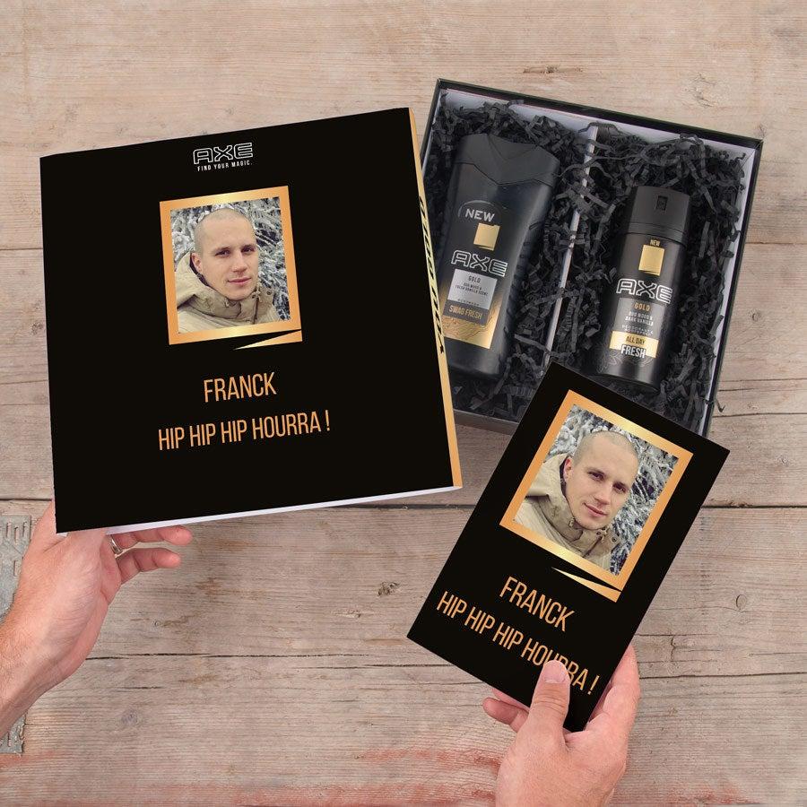 Coffret Axe Gold - Gel de douche & déodorant + bullet journal