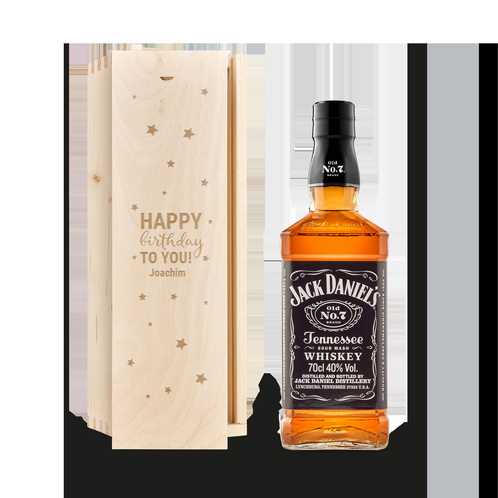 Individuellleckereien - Jack Daniels Whisky in gravierter Kiste - Onlineshop YourSurprise