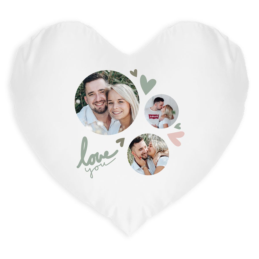 Polštář - ve tvaru srdce (s nádivkou)