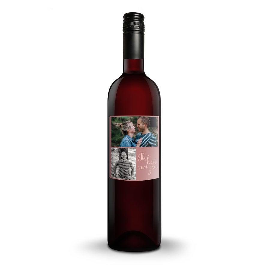 Wijn met bedrukt etiket - Belvy - Rood
