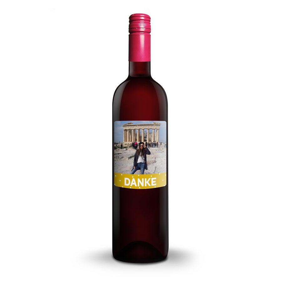 Wein mit bedrucktem Etikett - Oude Kaap Rot
