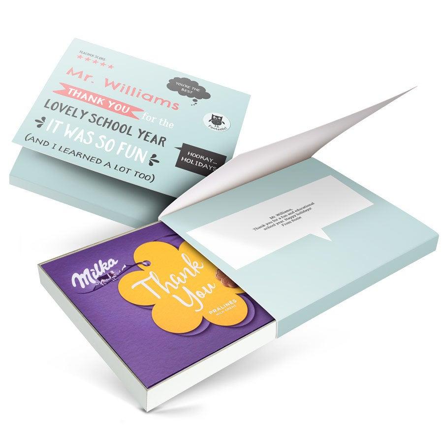 Caixa de chocolate - eu amo Milka! - Professor