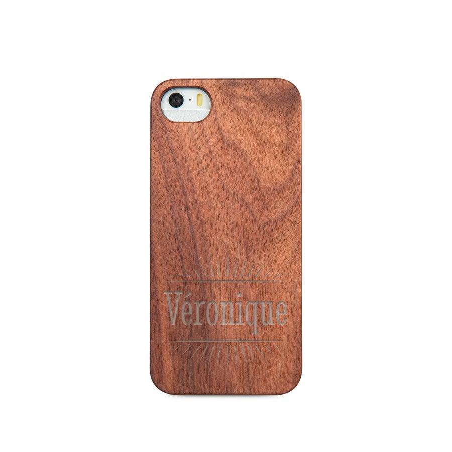 Coque en bois iPhone 5/5s - Gravée