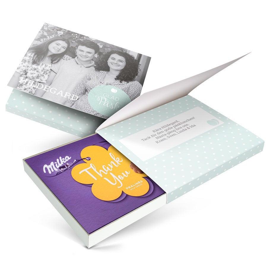 Chokladask - I love Milka! - Påsk - Blomma - 110 gram