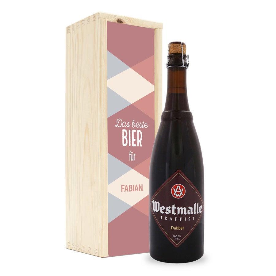 Personalisiertes Bier - Westmalle Dubbel