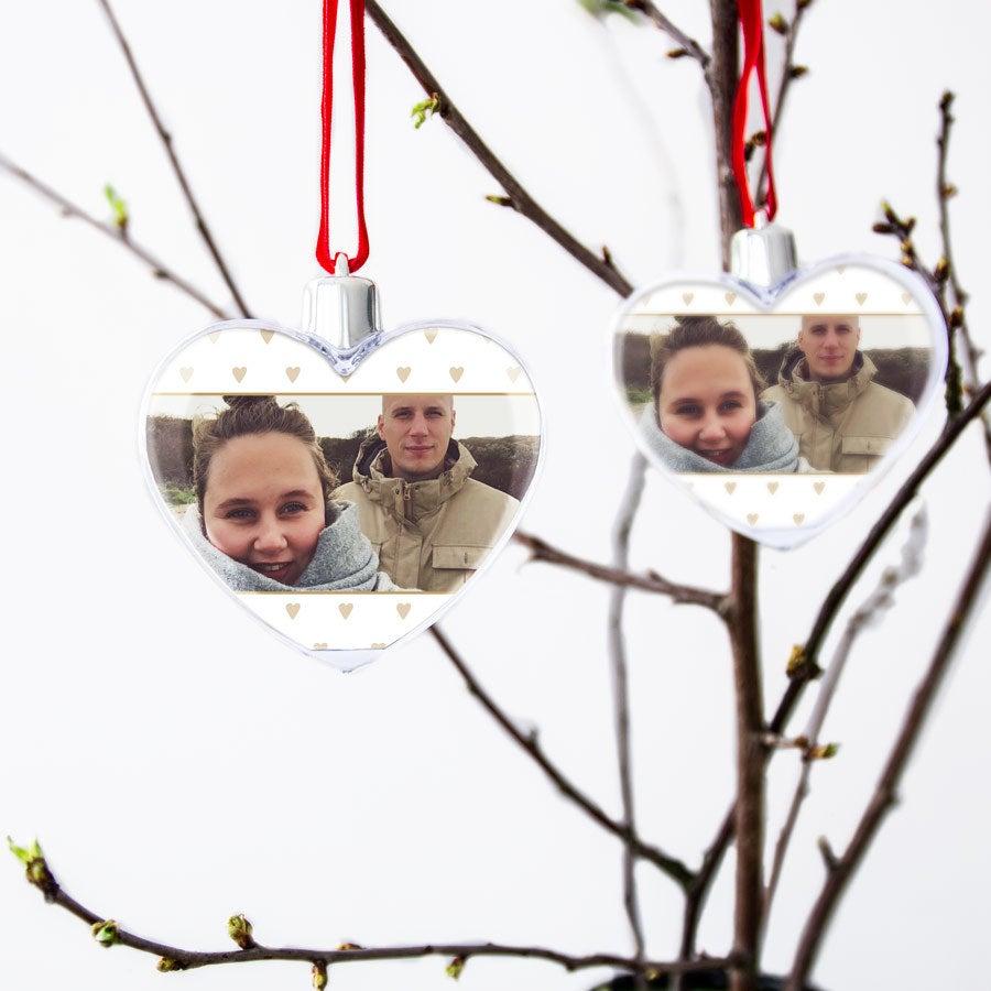 Décoration Saint Valentin - Coeur photo transparent (2 pièces)