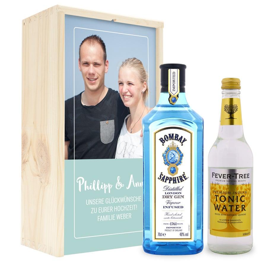 Gin Tonic Set - Bombay Spphire Gin - in luxuriöser Holzkiste