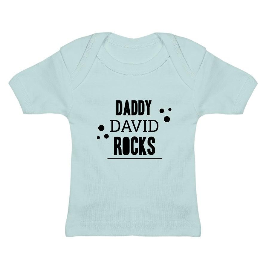Dětské tričko - modré 0-6 měsíců