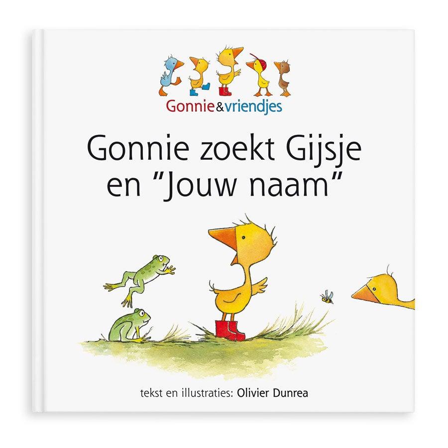 Boek met naam - Gonnie zoekt Gijsje - Hardcover