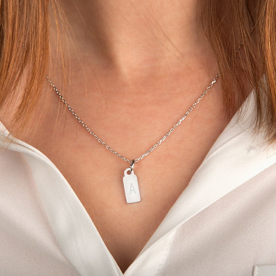 Necklace with letter pendant - 1 pendant