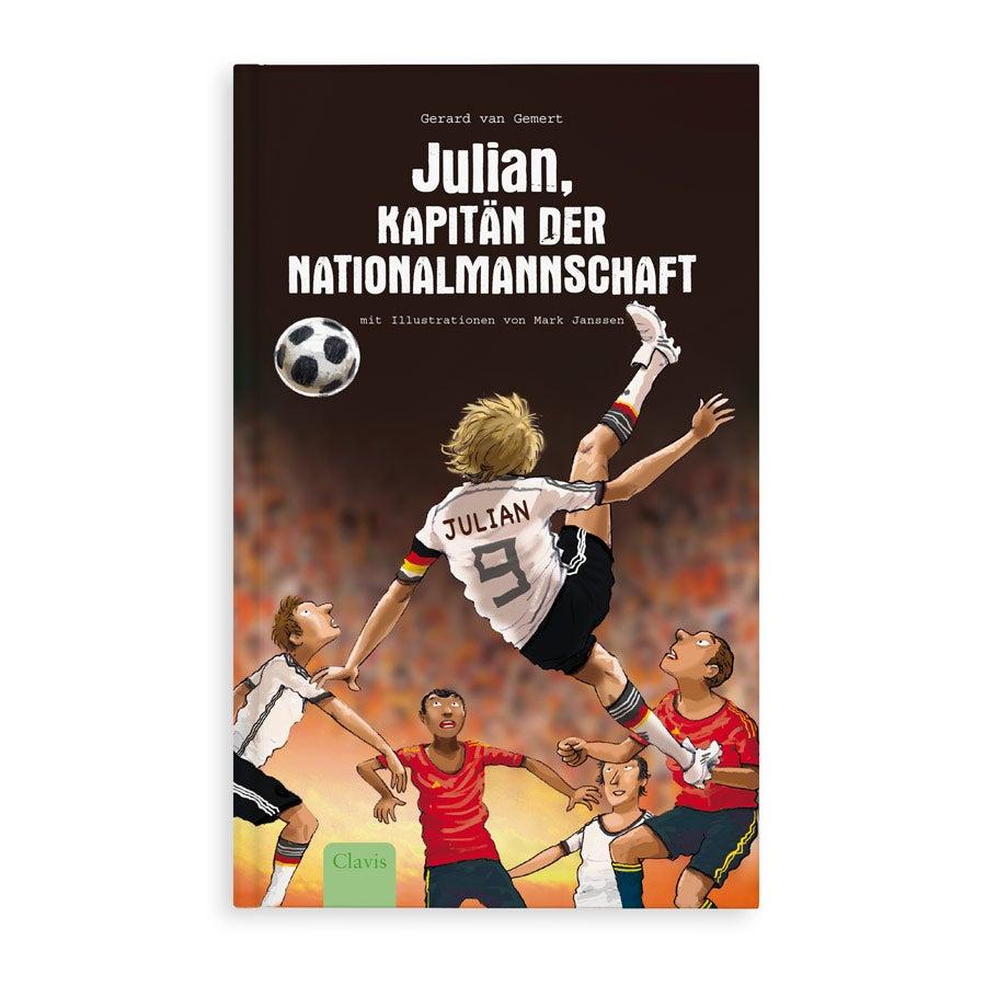 Individuellbabykind - Jugendbuch mit Namen Kapitän der Nationalmannschaft Hardcover - Onlineshop YourSurprise